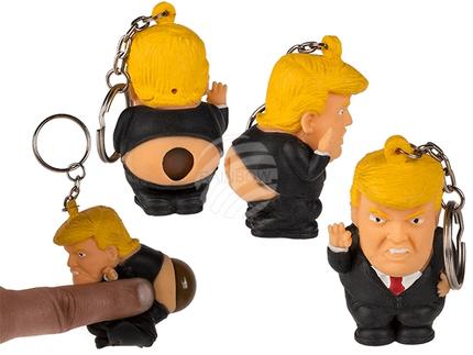 12-0027 Metall-Schlüsselanhänger, Squeeze-President, Pop Poo, ca. 6 cm, 24 Stück im Display, 10368/PAL
