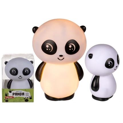 220333 Kunststoff-Nachtlicht, Panda, mit LED (inkl. Batterien) ca. 15 x 10 cm, in PVC-Box, 840/PAL