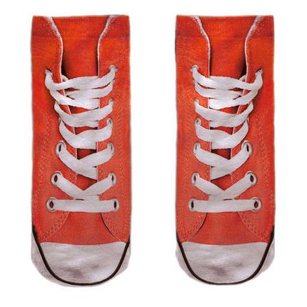 SO-L112  Motiv Socken rot weiß Schuhe lässig