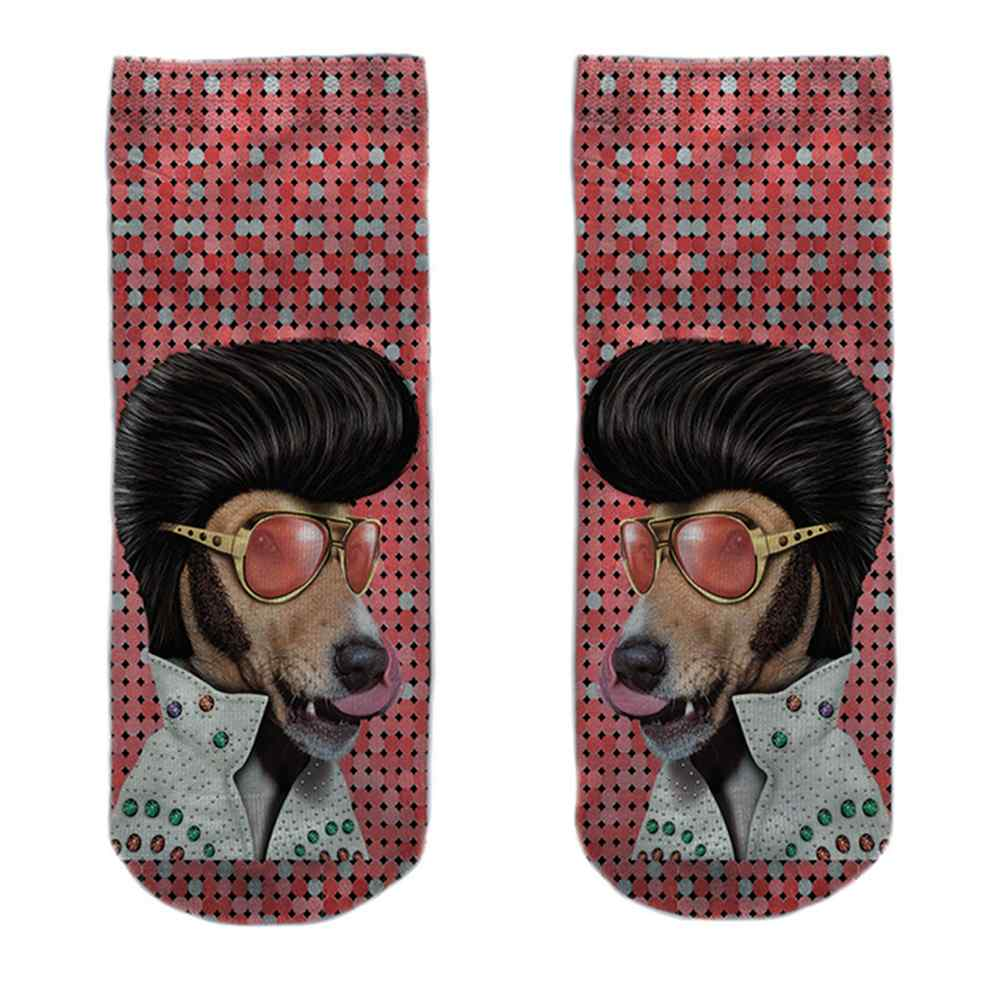 SO-L118  Motiv Socken Elvis Hund multicolor ca. 37 - 40
