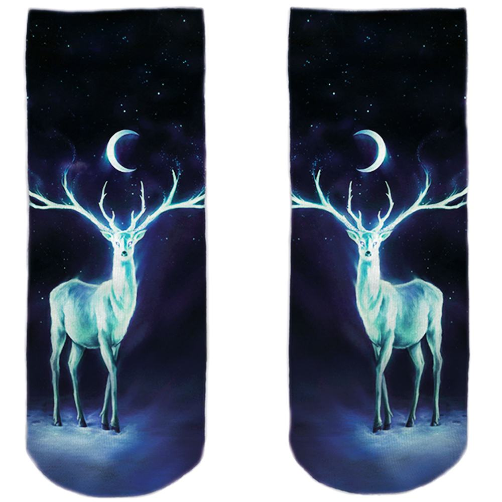 SO-L122  Motiv Socken multicolor Reh Mond