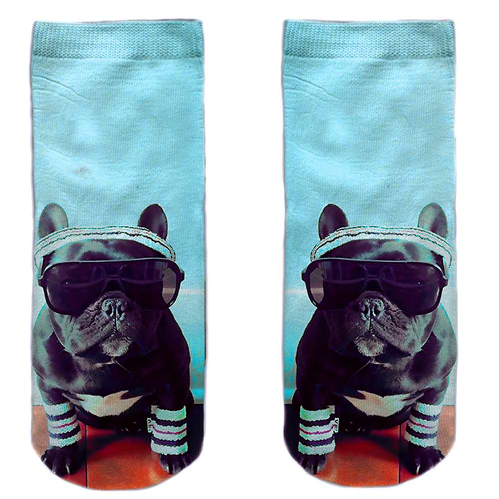 SO-L180  Motiv Socken multicolor Bulldogge cool