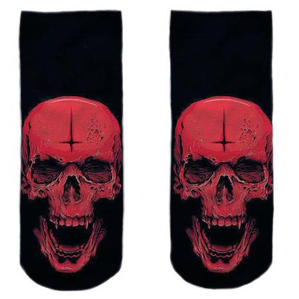 SO-L185  Motiv Socken schwarz weiß Horror Schädel