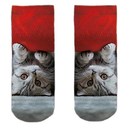 SO-L187  Motiv Socken Katze unter Sofa multicolor ca. 37 - 40