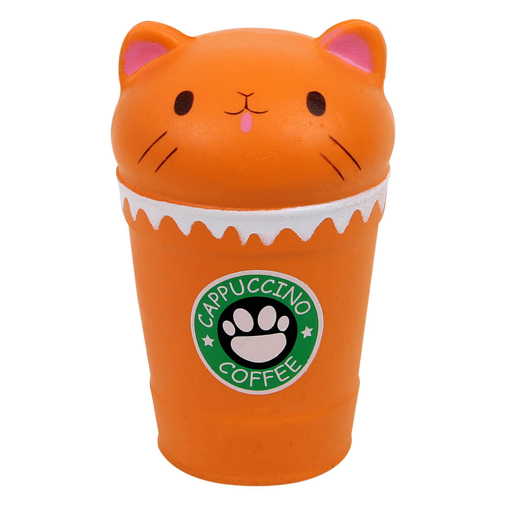 SQ-237 Squishy Squeeze Cappuccino Katze orange ca. 15 cm
