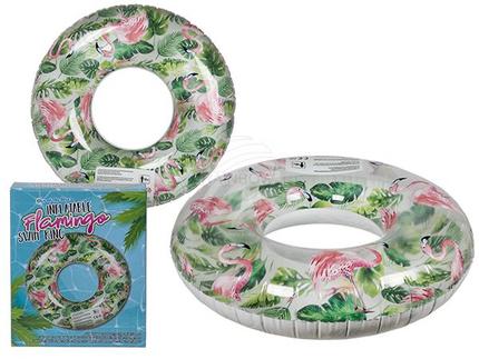 91-4210 Aufblasbarer Schwimmring, Flamingo-Design, ca. 99 cm