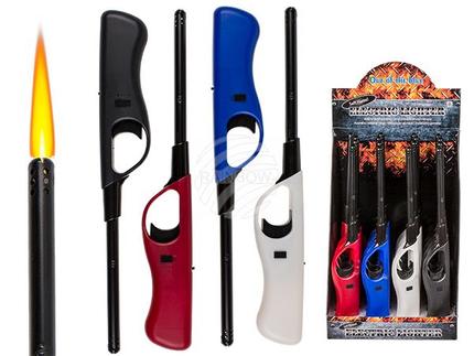 10-2415 Elektro-Stabfeuerzeug, Soft Flame, 4-farbig sortiert, 16 Stück im Display, 2880/PAL