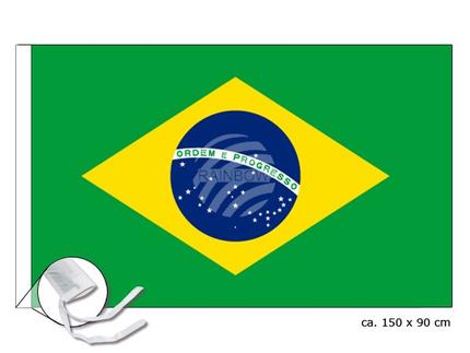 FL-03 Flagge Brasilien Abmessung (BxH) 150 cm x 90 cm