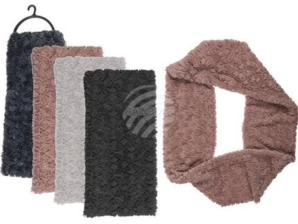 02-2973 Winter-Tunnelschal, Fluffy, 100% Polyester, 4-farbig sortiert, mit Headercard
