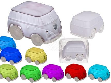 57-9804 Kunststoff-Leuchte, VW Bus, mit farbwechselnder LED, ca. 20  x 14 cm, für 3 x Micro Batterien (AAA)