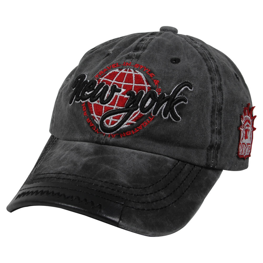 CAP-213 Vintage Retro Distressed Trucker Cap grau New York One Size Fits all