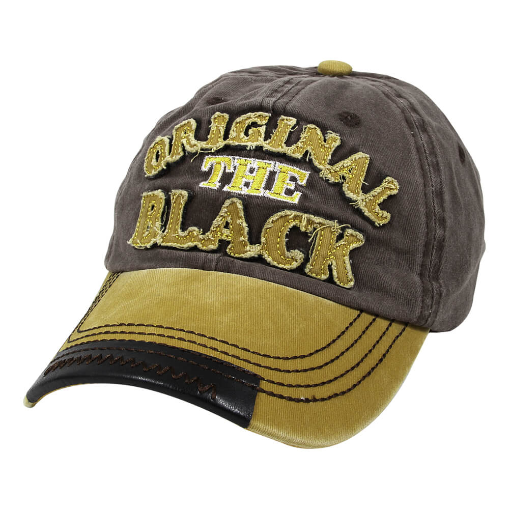 CAP-219 Vintage Retro Distressed Trucker Cap grau gelb Original the black One Size Fits all