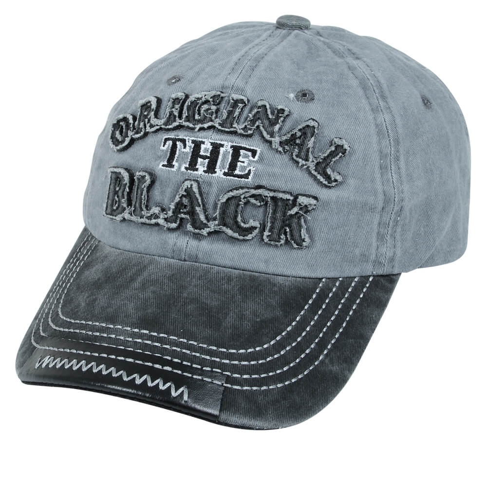 CAP-220 Vintage Retro Distressed Trucker Cap grau Original the black One Size Fits all