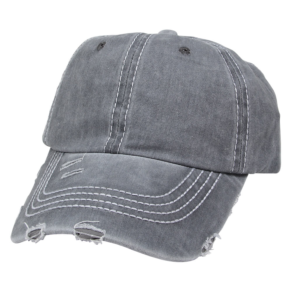 CAP-246 Vintage Retro Distressed Trucker Cap grau Unifarben One Size Fits all