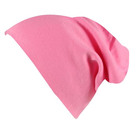 SM-443k Long Beanie Slouch Mütze pink einfarbig