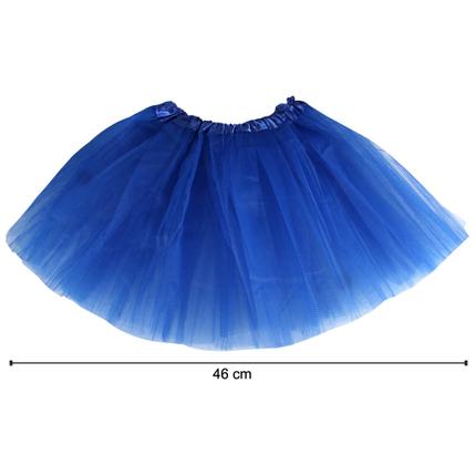 TUT-024 Kinder Tutu Petticoat Unterrock dunkelblau blau  ca. 46 cm