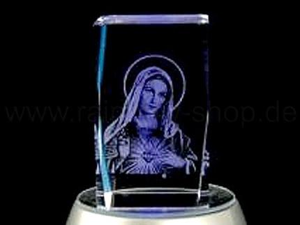 KQ-056 Kristall Quader Motiv: Heiligenbild Farbe: klar