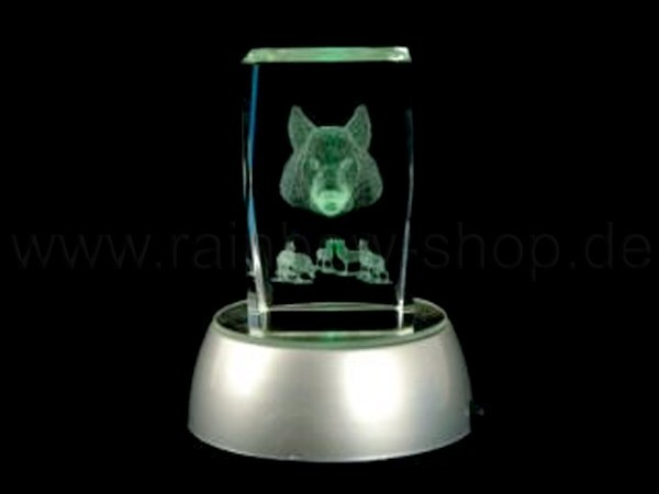 KQ-st08 Kristall Quader Motiv: Skorpion Farbe: klar