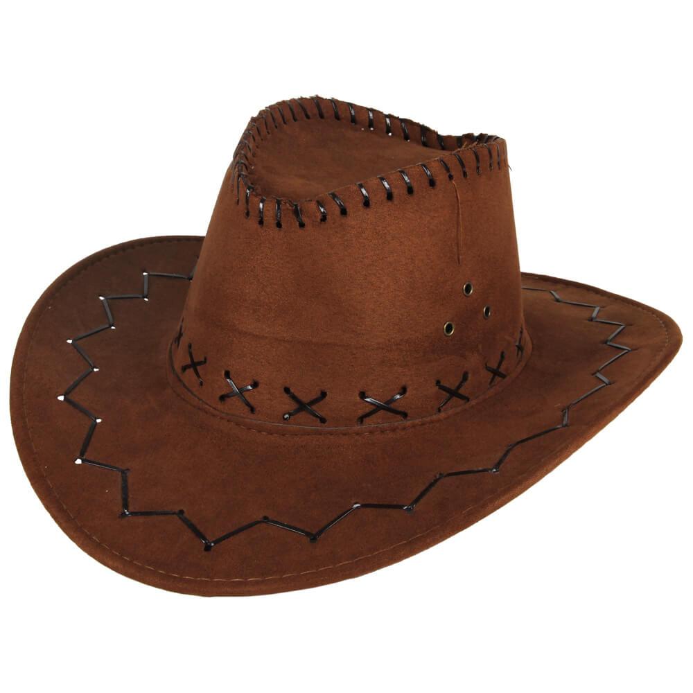 CW-04 Cowboyhut Design: Zick Zack Muster Farbe: braun