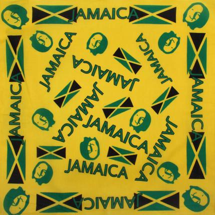 BA-008 Bandana Kopftuch Halstuch Design: Jamaica Farbe: gelb