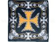 BA-026 Bandana Kopftuch Halstuch Design: Eisernes Kreuz, Biker Style Farbe: schwarz