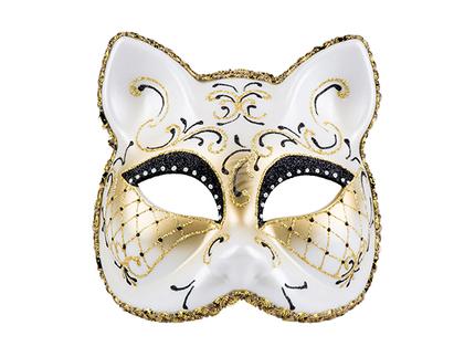 BLD-00217 Augenmaske venezianisch Katze