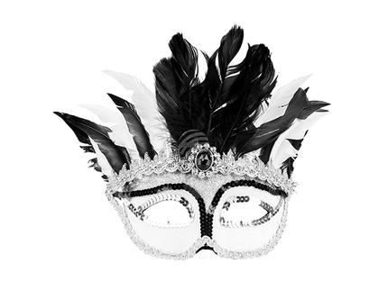 BLD-00290 Augenmaske venezianisch Elster