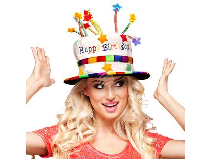 BLD-00932 Hut Rainbow Kuchen 'Happy Birthday'