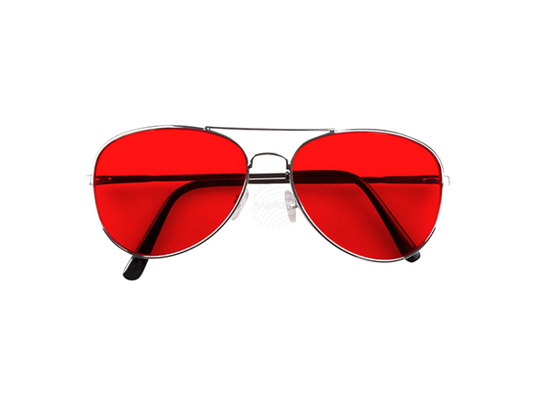 BLD-02610 Partybrille Retro rot