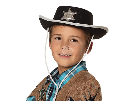 BLD-04030 Kinderhut Sheriff schwarz