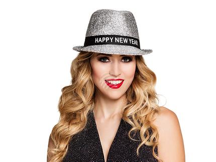 BLD-13450 Trilby Hut Glitzer 'Happy New Year'