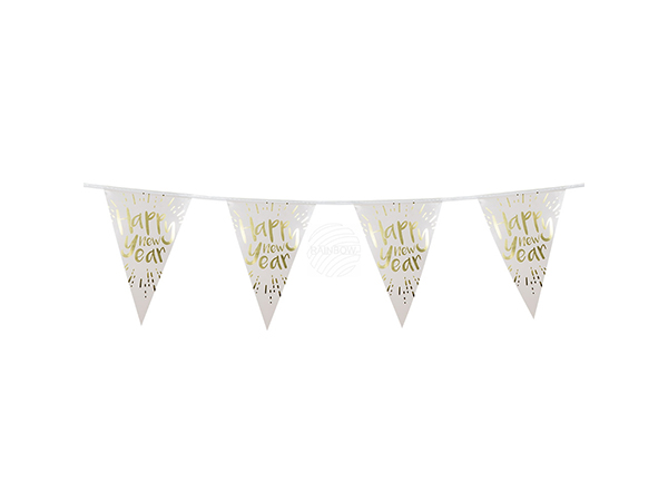 BLD-13460 Folienwimpelkette 'Happy New Year' (4 m)