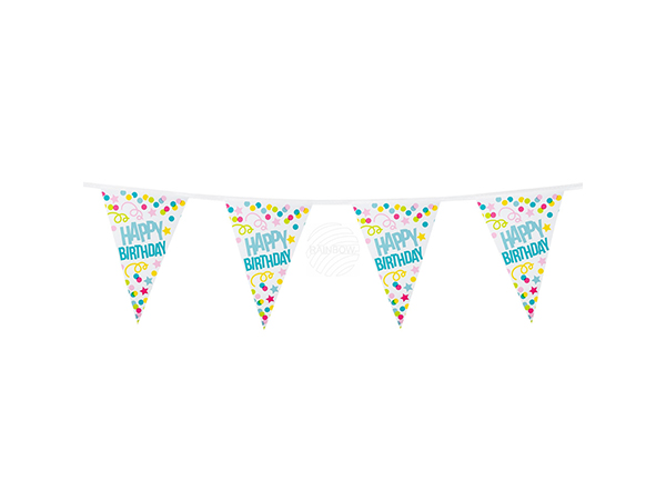 BLD-31000 Wimpelkette 'Happy Birthday' (6 m)