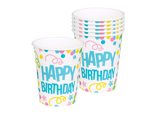 BLD-31007 6 Becher 'Happy Birthday' (25 cl)