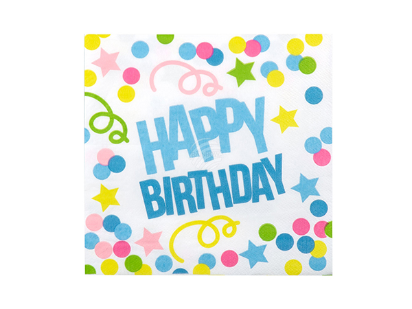 BLD-31008 12 Servietten 'Happy Birthday' (33 x 33 cm)