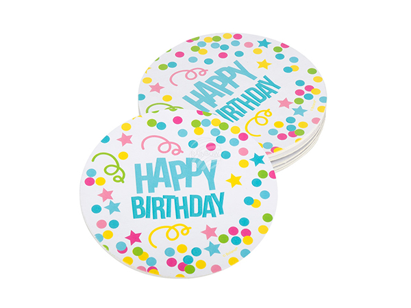 BLD-31010 6 Deckel 'Happy Birthday' (10 cm)