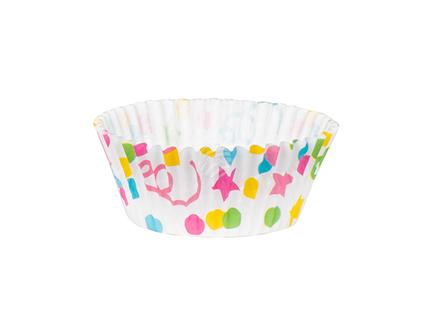 BLD-31043 50 Cupcake-Förmchen Confetti (11 cm)