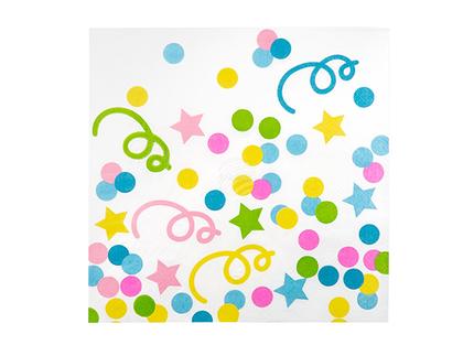 BLD-31048 12 Servietten Confetti (33 x 33 cm)