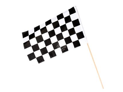BLD-44756 Polyester Handfahne Racing (30 x 45 cm / 60 cm Stick)