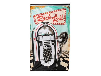 BLD-44851 Fahne Rock 'n Roll (150 x 90 cm)
