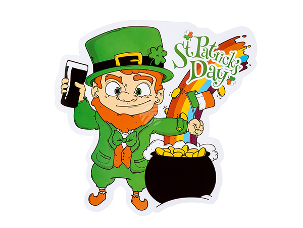BLD-44919 Dekoration St Patrick's Day (30 x 29 cm)