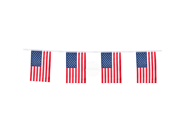 BLD-44951 Polyester Wimpelkette USA (4 m)