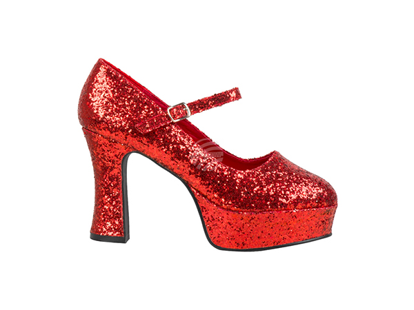 BLD-46053 Schuhe Disco glitter red 39