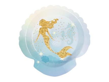 BLD-51004 6 Tellerchen Meerjungfrau (18 cm)
