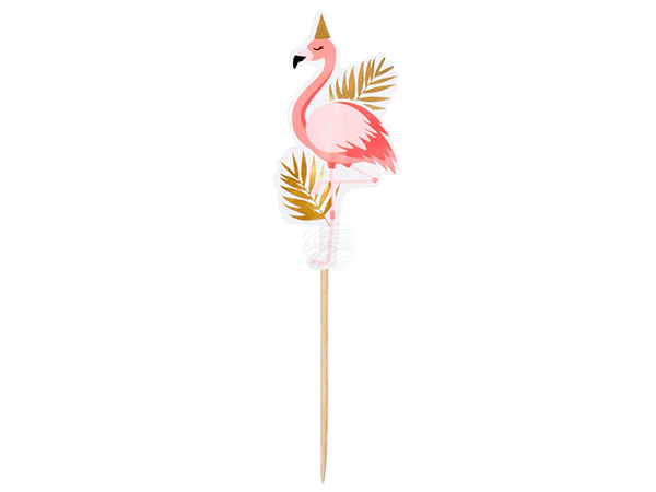 BLD-52562 12 Cocktail-Spiesser Flamingo (13 cm)