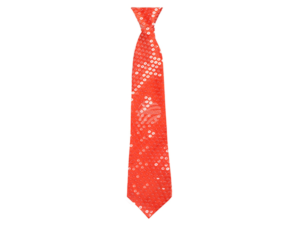 BLD-52956 Krawatte Pailletten rot (40 cm)