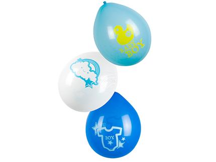BLD-53215 6 Luftballons 'Baby boy' (25 cm)