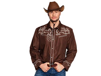 BLD-54332 Shirt Western braun (M)