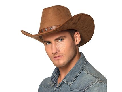 BLD-54368 Cowboyhut Nebraska (Kunstwildleder)