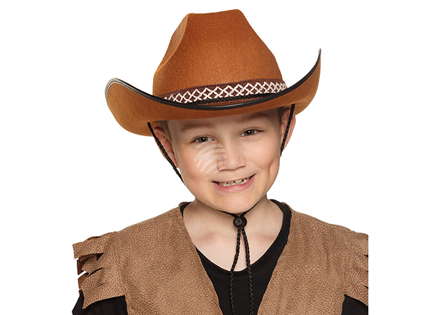 BLD-54370 Kinderhut Cowboy junior braun